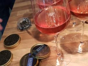 Moet Rosé Champagner und Kaviar