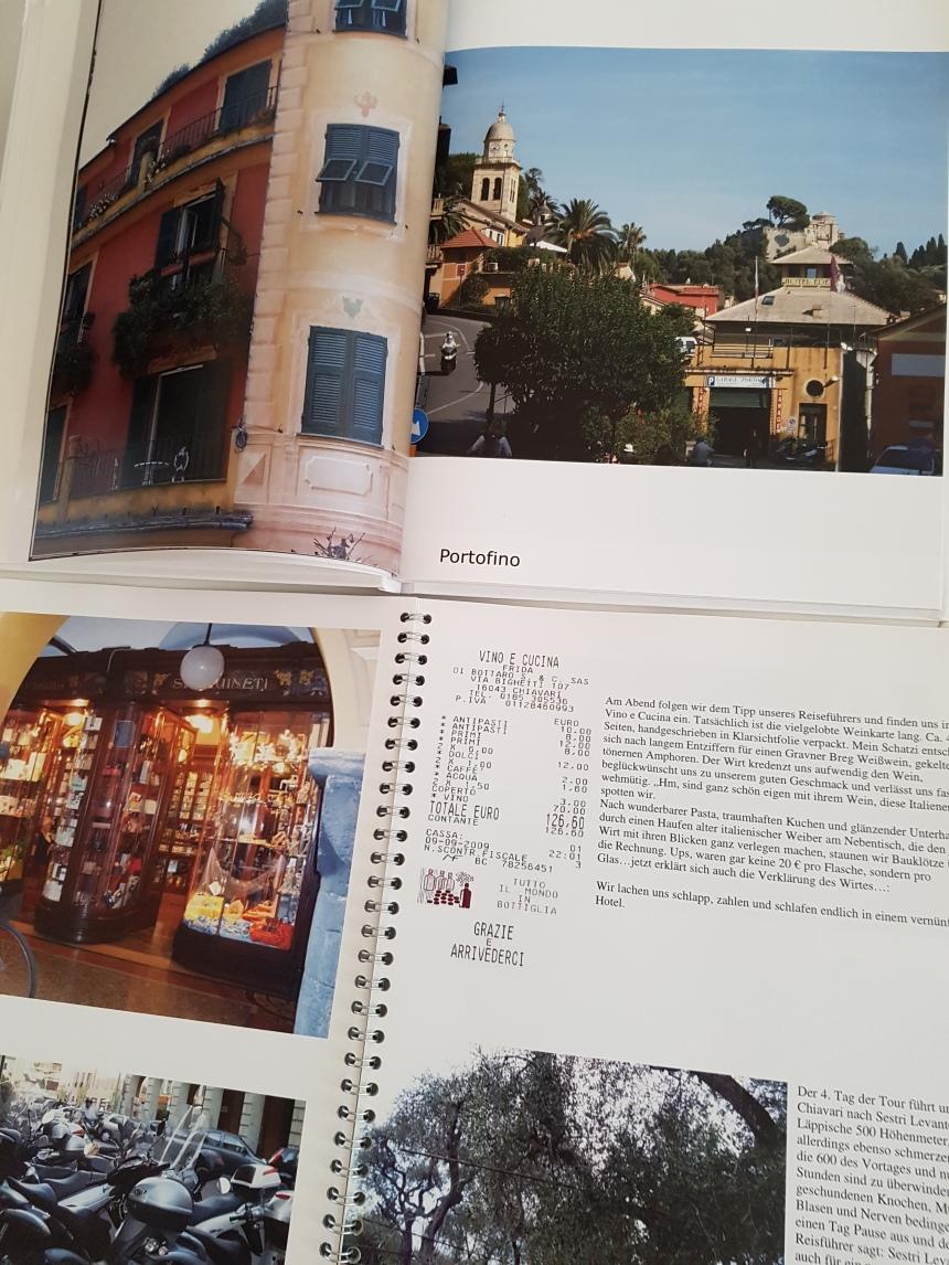 Fotobuch 1 (Spiralgefunden) und 2 (Hardcover Hochglanz) Ligurienreise
