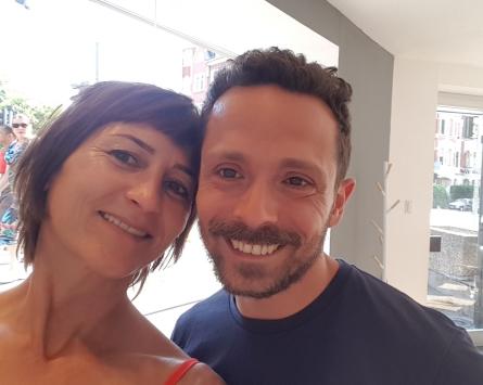 Vorher mit Friseur Salvo