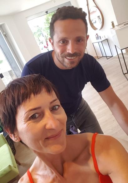 Nachher mit Friseur Salvo