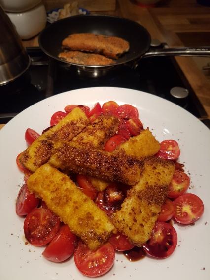 Tomaten Vollkornfischstäbchen